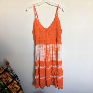 TOBI size Large Crocheted crinkle sun dress